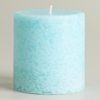 "Mediterranean Sea Mottled Candle, 3"" x 3"" 