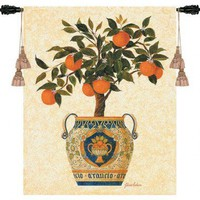Pure Country Weavers Italian Orange Tree Tapestry - 3041-WH - All Wall Art - Wall Art & Coverings - Decor