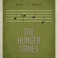 Rue&#x27;s Song Hunger Games Inspired Poster 11 x by EntropyTradingCo