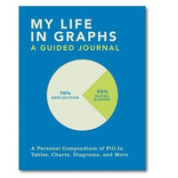 My Life in Graphs - A Journal to Chart Your Every Move in Graph Format! - Whimsical & Unique Gift Ideas for the Coolest Gift Givers