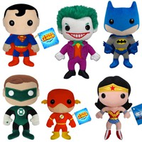 Classic DC Comic Book Plushies - Superman, Batman, Green Lantern or The Flash - Whimsical & Unique Gift Ideas for the Coolest Gift Givers