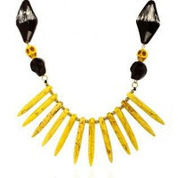 Yellow Skull Tooth Necklace
