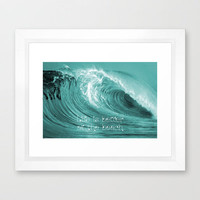 Better at the Beach Framed Art Print by Alice Gosling