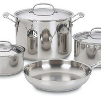 Cuisinart 77-7 Chef's Classic Stainless 7-Piece Cookware Set:Amazon:Kitchen & Dining