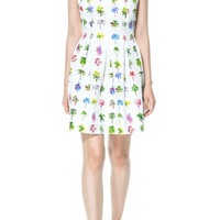 PALM TREE PRINT DRESS - Dresses - TRF - ZARA United States