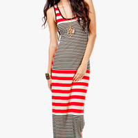 Open Back Stripe Mix Maxi