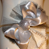 Stunning silver and black satin and tulle by LizziesBowtique1