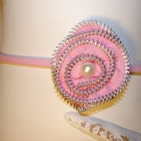 Beautiful fun and funky handmade pink handmade by LizziesBowtique1