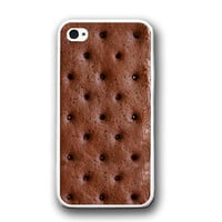 Ice Cream Sandwich Funny HUmor iPhone Case - Rubber Silicone iPhone 5 Case