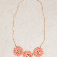 Coral Blossom Necklace at ShopRuche.com