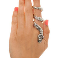 MKL Accessories Ring Snake Wrap in Silver