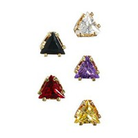 ASOS Multipack Triangle Stud Earrings at asos.com