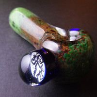 Forest & Jade Glass Pipe w/ Dancing Bear Marble )Grateful Dead(