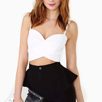 Under Wraps Bustier - White