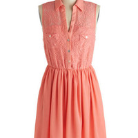 Salmon Name, Salmon Name Dress | Mod Retro Vintage Dresses | ModCloth.com