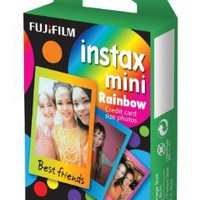 Fuji Instax Mini Films Rainbow Model Usable with Polaroid Mio & 300 -Lomo Diana Instant Back:Amazon:Camera & Photo