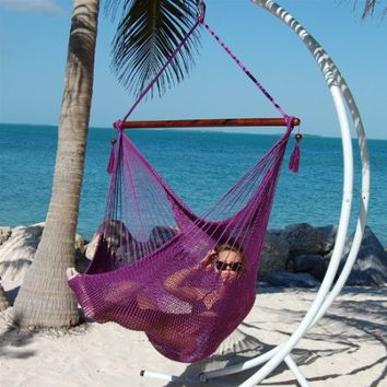 Caribbean Jumbo Hammock Chair By Beachside Hammocks - Purple