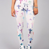 Galaxy Cross Leggings | Leggings at Pink ice
