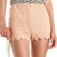 High Waisted Crochet Short: Charlotte Russe