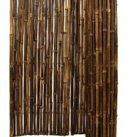 Backyard X-Scapes Black Rolled Bamboo 1 In. D x 4 Ft. H x 8 Ft. L Fencing - HDD-BF12BLACK at The Home Depot