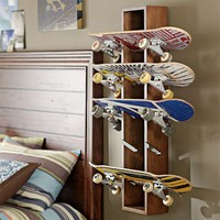 Rustic Skateboard Display