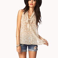 Tie-Front Animal Print Top | FOREVER 21 - 2047467817