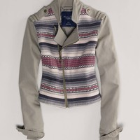 AE Embroidered Moto Jacket | American Eagle Outfitters