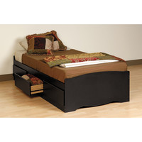 Black Twin Mate's Platform Storage Bed with 3 Drawers | Overstock.com