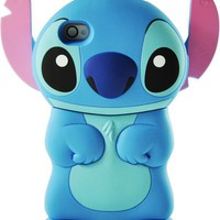 XMAS GIFT  Disney 3d Stitch Movable Ear Flip Hard Case Cover for Iphone 4/4s