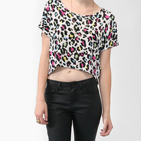 Colored Leopard Print Top