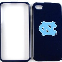 Apple iPhone 4 - 4S (AT&T/Verizon/Sprint) Snap-On Case, NCAA N. Carolina Tar Heels Hard Case/Cover/Faceplate/Snap On/Housing/Protector:Amazon:Cell Phones & Accessories