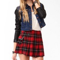 Denim & Faux Leather Jacket