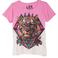 Dip-Dye Tribal Bear Tee