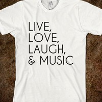 love music - Clever Clothes - Skreened T-shirts, Organic Shirts, Hoodies, Kids Tees, Baby One-Pieces and Tote Bags