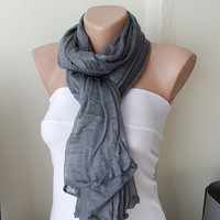 Grey Gray Cowl Tube Scarves by Periay on Etsy