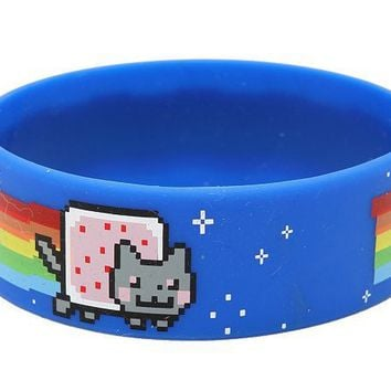 Nyan Cat Rubber Bracelet