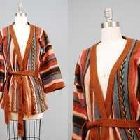 1970s boho striped sweater / bell sleeve by HinterlandVintage
