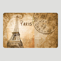 Vintage Paris View Cushion Floor Mat