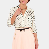Win the Spot-ery Cream Polka Dot Top