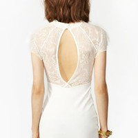 Jagged Lace Dress
