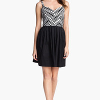 Betsey Johnson Stripe Top Fit & Flare Dress | Nordstrom