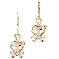 MKL Accessories Earrings Skull and Crossbone in Gold