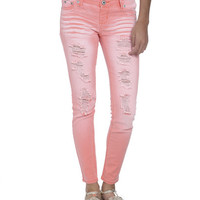 Pigment Wash Destroyed Jegging | Shop Just Arrived at Wet Seal