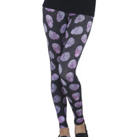 Floral Skull Printed Legging | Shop Just Arrived at Wet Seal