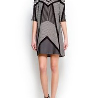 Mango Women's Op-Art Print Dress:Amazon:Clothing