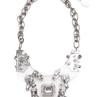 DJPremium.com - Women - Shop by Department - Accessories - LUCITE TRON STATEMENT NECKLACE