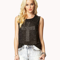 Studded Cross Muscle Tee | FOREVER21 - 2050438481