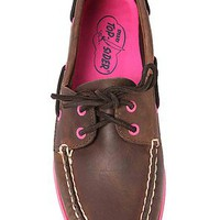 Sperry Topsider The AO 2Eye Shoe in Dark Brown and Fuchsia : Karmaloop.com - Global Concrete Culture