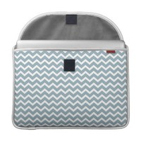 Blue Zig Zag Chevrons Pattern Sleeve For MacBooks from Zazzle.com