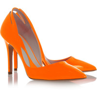 McQ Alexander McQueen | Cutout pointed patent-leather pumps | NET-A-PORTER.COM